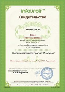 Рабочая программа по учебному предмету «Русский язык», 7 класс